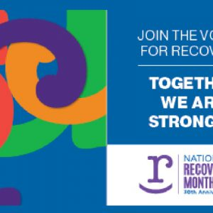 Flyer: Join the voices for recovery: together we are stronger